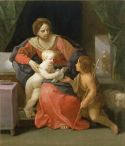 Guido Reni Virgin and Child Poster Reproduction Paintings Giclee Canvas Print