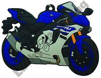 Yamaha YZF-R1 rubber key ring motor bike cycle gift keyring chain 15-16