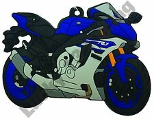 Yamaha YZF-R1 rubber key ring motor bike cycle gift keyring chain