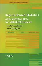 NEW Register-based Statistics: Administrative Data for Statistical Purposes