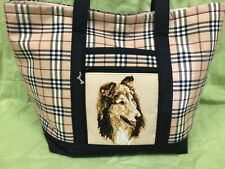 Beautiful Custom Embroidered Collie Tote