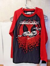 Star Wars Red and Black Long Sleeve T-shirt Size Large 663