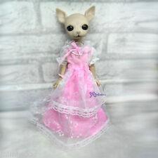 Mimi Collection Fashion Hujoo Albu Dog Lily Rose Yo-SD Outfit Pink Lace Dress
