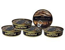 5x 160 g (1Kg/10,70€) Geräucherte Sprotten in Öl Pflanzenöl Riga Fisch Konserven