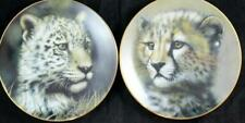 Princeton Gallery Cubs Of The Big Cats 2 Collector Plates Cheetah & Jaguar