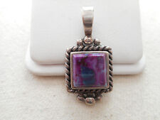 Sterling Silver 925 Purple Stone Pendant  RE1086