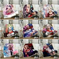 Suicide Squad Harley Quinn 3DPrint Blanket Skull Warm Soft Sofa Bed Throw Fleece