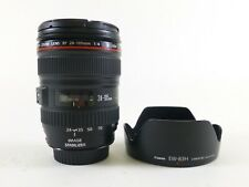 Canon 24-105mm F/4 L USM Lens with Lens Caps and a Lens Hood and in EC.