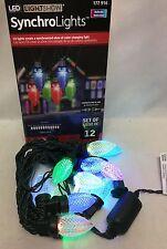 Gemmy 12 Brilliant Multi LED C9 Light Show Christmas Yard Decoration Lightshow