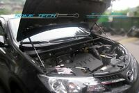 13-16 Toyota RAV4 SUV Black Strut Gas Lift Hood Stainless Bonnet Damper Kit