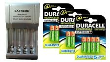 AA/AAA FAST 509 BATTERY CHARGER + 12 x AA 2500 mAh DURACELL DURALOCK BATTERIES