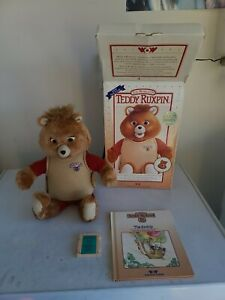 Vintage Teddy Ruxpin With Box 1985
