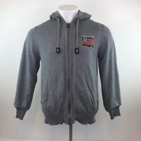 Barbour Steve McQueen American Team Zip Hoodie Grey Mens Large