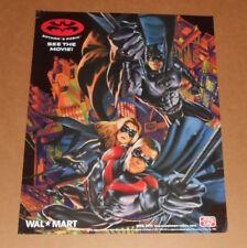 Batman & Robin Poster 1997 Promo 17.5x22.25 Walmart Frito Lay RARE