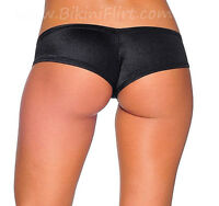 SEXY SKIMPY CHEEKY BLACK MICRO BOY SHORTS BIKINI BOTTOMS! NEW! MADE IN USA!!!