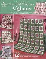 Beautiful Blossoms Afghans Crochet Quilt Instruction Patterns Floral Flowers NEW