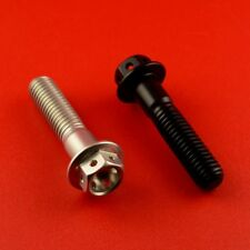 Black Aluminium Race Flanged Hex Head Bolts M8 x 1.25mm  x 35mm