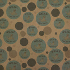 Seal The Deal Cool Funny Humor Premium Kraft Gift Wrap Wrapping Paper Roll