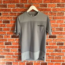 New Balance Dry T Shirt Size Small Grey Stripes With Pocket Running Workout Mens
