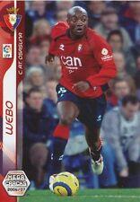 N°232 PIERRE WEBO KOUANO # CAMEROON CA.OSASUNA CARD PANINI MEGA CRACKS LIGA 2007
