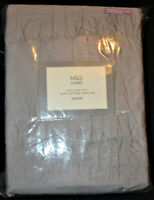 M&S SUPERKING CASUAL SMOCKING BEDSET / DUVET SET 100% COTTON PERCALE GREY - BNWT