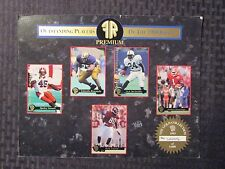 "1993 Leaf Outstanding FOOTBALL PLAYERS Of The Draft ""Sample"" Card Sheet VG/FN"