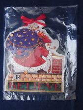Mary Engelbreit Wood Christmas Ornament Believe Santa ~ New Tag Package