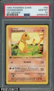 1999 Pokemon Game 1st Edition #46 Charmander PSA 10 GEM MINT