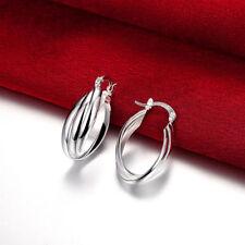 New Women Fashion Jewelry 925 Silver Sterling Small Dangle Hoop Hook Earrings
