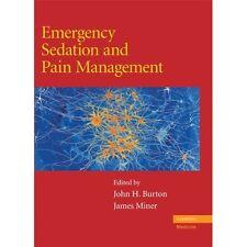 Emergency Sedation Pain Management Burton Miner Cambr. 9780521870863 Cond=LN:NSD