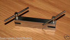 """DOUBLE TWO HOLE PUNCH PLATE Metalwork Steel Jewelers Tool 5"""" x 1-1/2"""" x 1"""""""