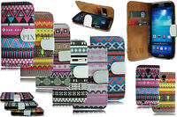 NEW AZTEC RETRO VINTAGE CARD WALLET FLIP CASE COVER FOR SAMSUNG GALAXY S4 I9500