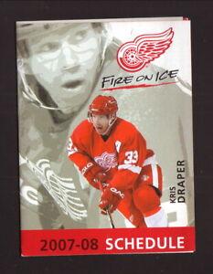 Detroit Red Wings--Kris Draper--2007-08 Pocket Schedule--Full Throttle