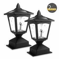 2PK Solar Post Lights Outdoor, Solar Lamp Post Cap Lights for Wood Fence Posts