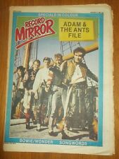 RECORD MIRROR JANUARY 17 1981 ADAM AND THE ANTS DAVID BOWIE COSTELLO SPECIALS PO