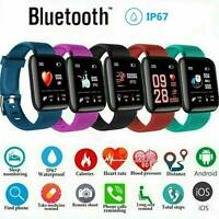 Fitness Smart Watch Band FIT -BIT Sport Activity Tracker For Kids Android iOS