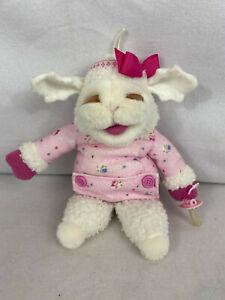 "Vintage 1990 Shari Lewis ""Baby Lamb Chop"" Pink Plush Hand Puppet w/Baby Pacifier"