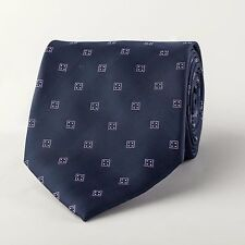 Navy Blue Wide Tie Lucky Hard Eight 9cm Necktie Traditional Old Fashioned Style