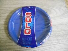 SOLO 9 INCH PLASTIC PLATES 15 BLUE