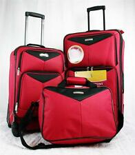 TRAVEL SELECT BAYFRONT 3 PIECE RED LIGHTWEIGHT LUGGAGE SET 1