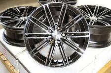 18 Black Stagger Wheels Rims Fit Ford Mustang Honda S2000 Hyundai Genesis Is200T