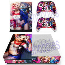 Xbox One S Slim Console Remote Skin Set Harley Quinn Batman Vinyl Decals Sticker