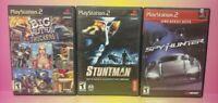 3 Game Racing Lot PS2 Playstation 2 Complete Spy Hunter Big Mutha Truck Stuntman