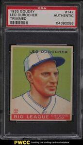 1933 Goudey Leo Durocher #147 PSA AUTH
