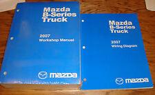 Original 2007 Mazda B-Series Truck Shop Service Manual + Wiring Diagram Set 07