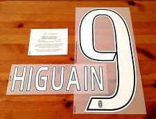 2016-17 JUVENTUS AWAY SHIRT HIGUAIN #9 numero ufficiale di nome DEKOGRAPHICS SET