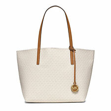 NEW WITH TAGS MICHAEL Kors Vanilla/Acorn Hayley Large East West Tote