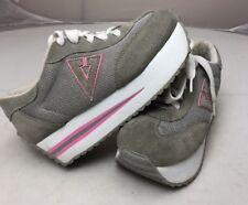 Vintage 90s 00s Volatile Women's Platform Wedge Sneakers Shoes SZ 8.5 Pink Grey