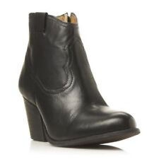 Steve Madden Ladies SOGOOD SM Leather Western Ankle Boot UK 4.5  EUR 37.5 * 1071