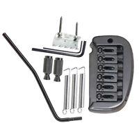 Black 1 Set 6 Strings Saddle Tremolo Bridge System for Electric Guitar Parts